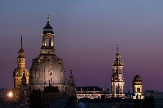 Germany, Saxony, Dresden, skyline, old town, dusk, Group Travel ©Sebastian Rose