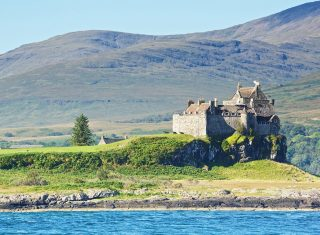Duart Castle from the sea, Isle of Mull