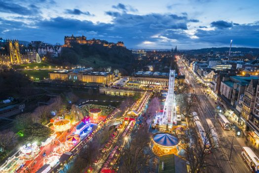 Edinburgh Christmas Market Group tour accommodation choice