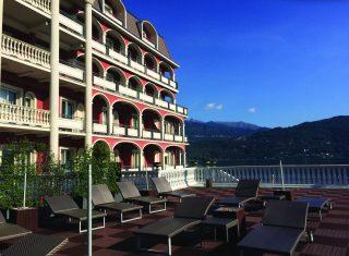 Exterior of Hotel Splendid, Baveno, Lake Maggiore