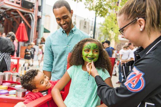 Face Painting during MARVEL Summer of Super Heroes ©Disneyland Paris