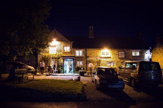 Fauconberg Arms pub at night