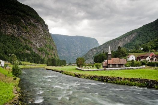 Flam Railway scenic view waterfall - beautiful Norwegian Fjords Cruise ©Fred.Olsen Cruise Lines