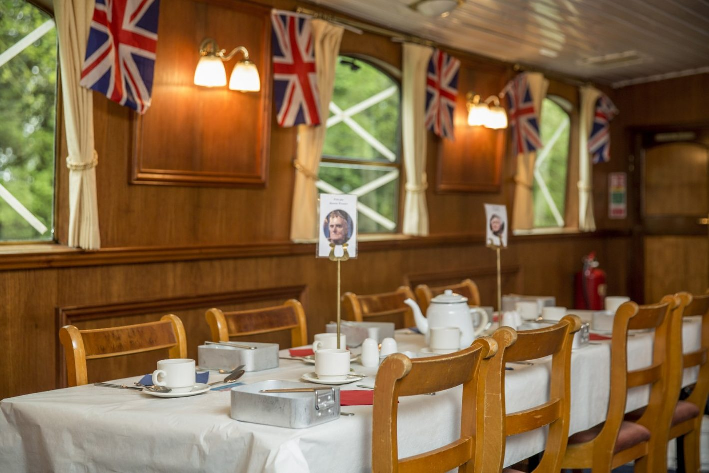 French Brothers Thames Cruise, London - Table set for dinner (NCN)