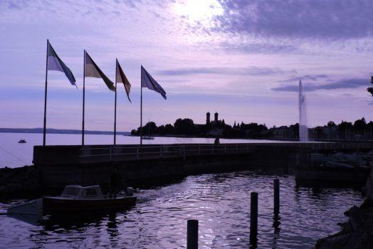 Friedrichshafen with Schlosskirche (church), Lake Constance