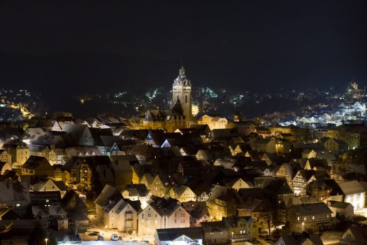 Germany, Fairytale road, fairytale route, bad wildungen, town at night, brothers grimm, group travel© German Fairy-Tale Route