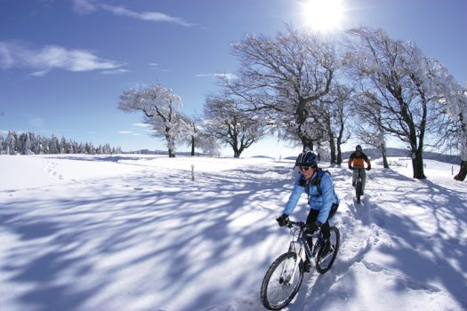 Germany - Black Forest - Mountain bike ride in the snow © DZT, Daniel Geiger, GNTB EXPIRES 27.11.2019