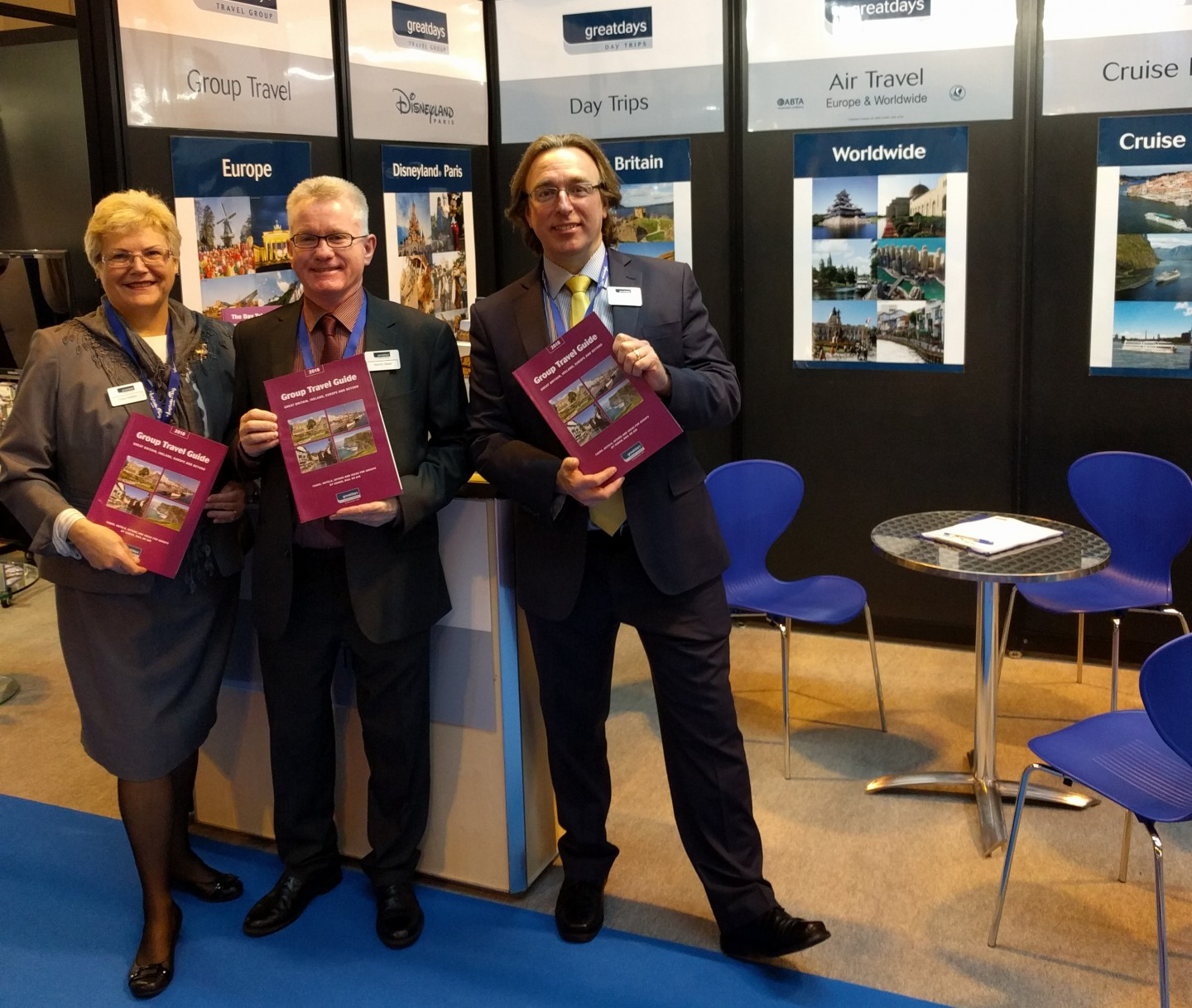Gina, Martin, Paul at British Tourism & Travel Show 2017