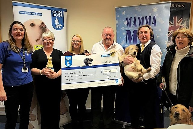 Guide Dogs for the Blind - Presenting donations cheque (02)jpg