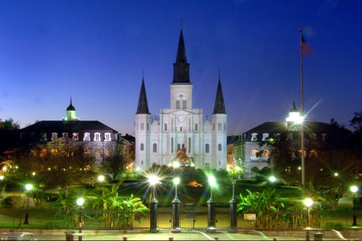 USA, Louisiana, New Orleans, St Louis Cathedral and Jackson Square, Group Travel, Group Tour, US City Break NCN