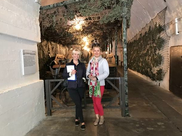 Katharine and Marina in the Jersey War Tunnels, Channel Islands