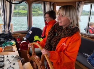 Katharine on the Carlingford boat trip - Louth Adventures (NCN)