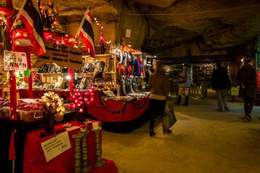 Holland netherlands caves Kerstmarkt in de Grot Valkenburg Christmas Markets Cave Valkenburg-ncn