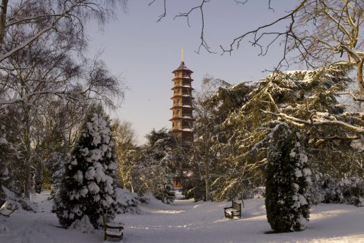 Kew Gardens, London -Pagoda in Winter ©citycruises.com