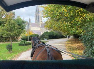 Killarney Jaunting Car and Killarney Cathedral, Ireland
