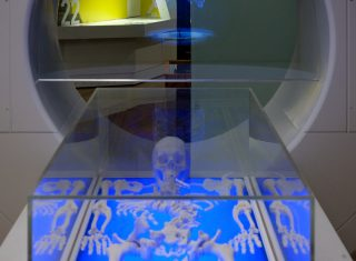 King Richard III Visitor Centre, Leicester - 3D print of skeleton