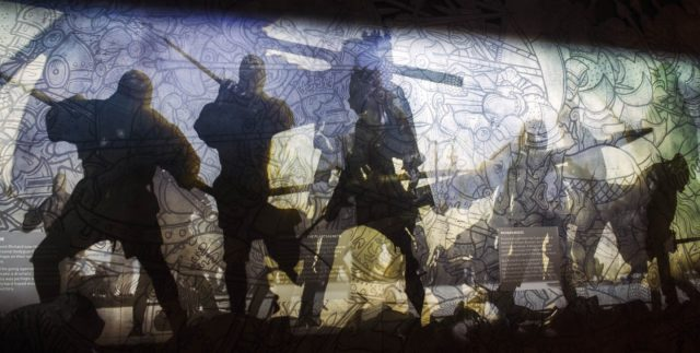 King Richard III Visitor Centre, Leicestershire - Bosworth scene