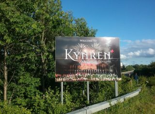 Kynren, County Durham, North East - Welcome to Kynren Sign