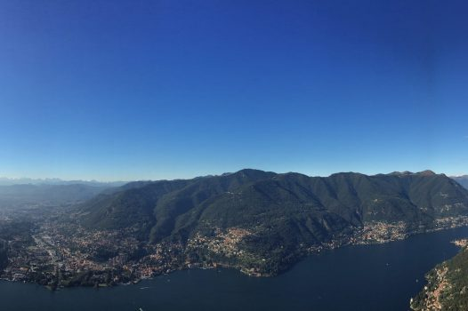 Lake Como and the Alps from the Faro Voltiano, Brunate, Lake Como