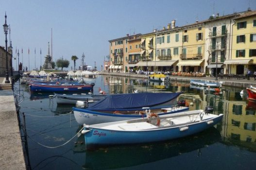 Lasize Lake Garda boats at the harbour, Italy - European Travel