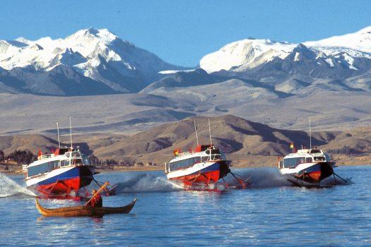 Hydrofoil on Lake Titica, Bolivia
