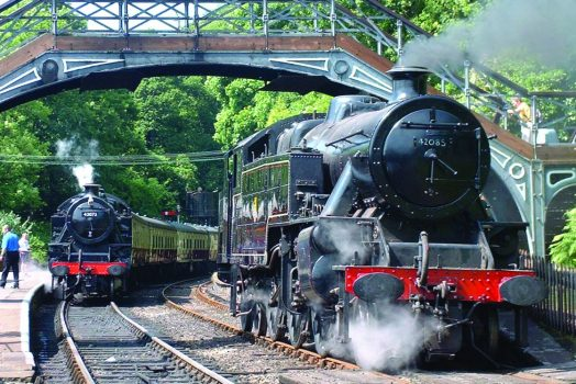 Lakeside and Haverthwaite Railway, Cumbria - Trains in station