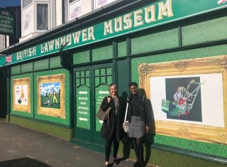 Lawnmower museum Southport - Katharine and Olivia (NCN)