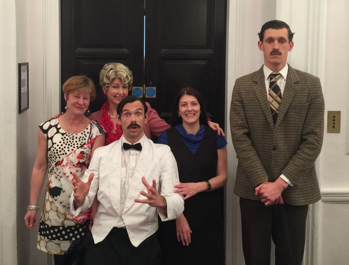 Libby and Dawn with Faulty Towers Cast (NCN)