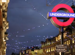London Underground sign at Christmas ©London and partners