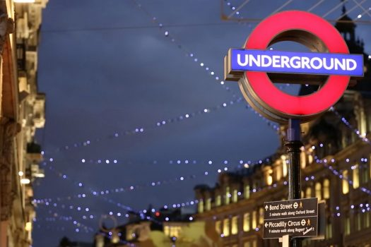 London Underground sign at Christmas ©visitlondon.com