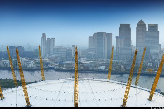 London - View of the O2 with skyline in background © the Up at the O2 EXPIRES 13.8.2021