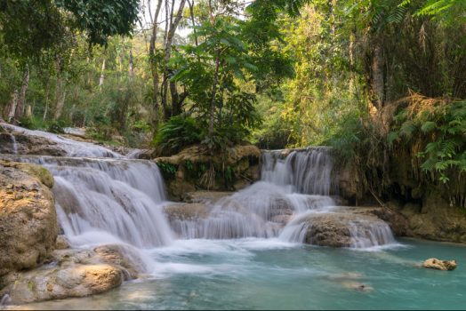 Southeast Asia, Laos, Luang Prabang Kuang Si waterfalls © Easia Travel