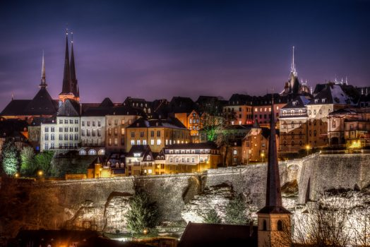 ONE USE ONLY Luxembourg, Luxembourg city at night, group travel, group tour © Paul Hilbert