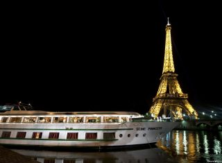 MS Seine Princess in Paris by Eiffel Tower, Croisieurope
