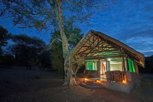 Malawi, Africa Camp - Mvuu Camp exterior