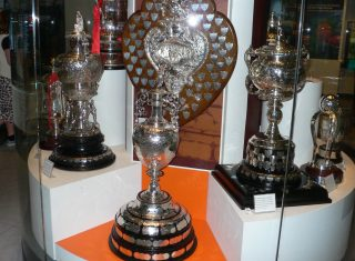 Trophies in the National Football Museum, Manchester Football