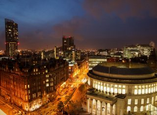 Manchester Skyline from No 1 St Peters Square, Manchester © Enna Bartlett