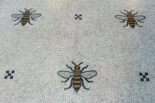 The tiled floor in Manchester Town Hall