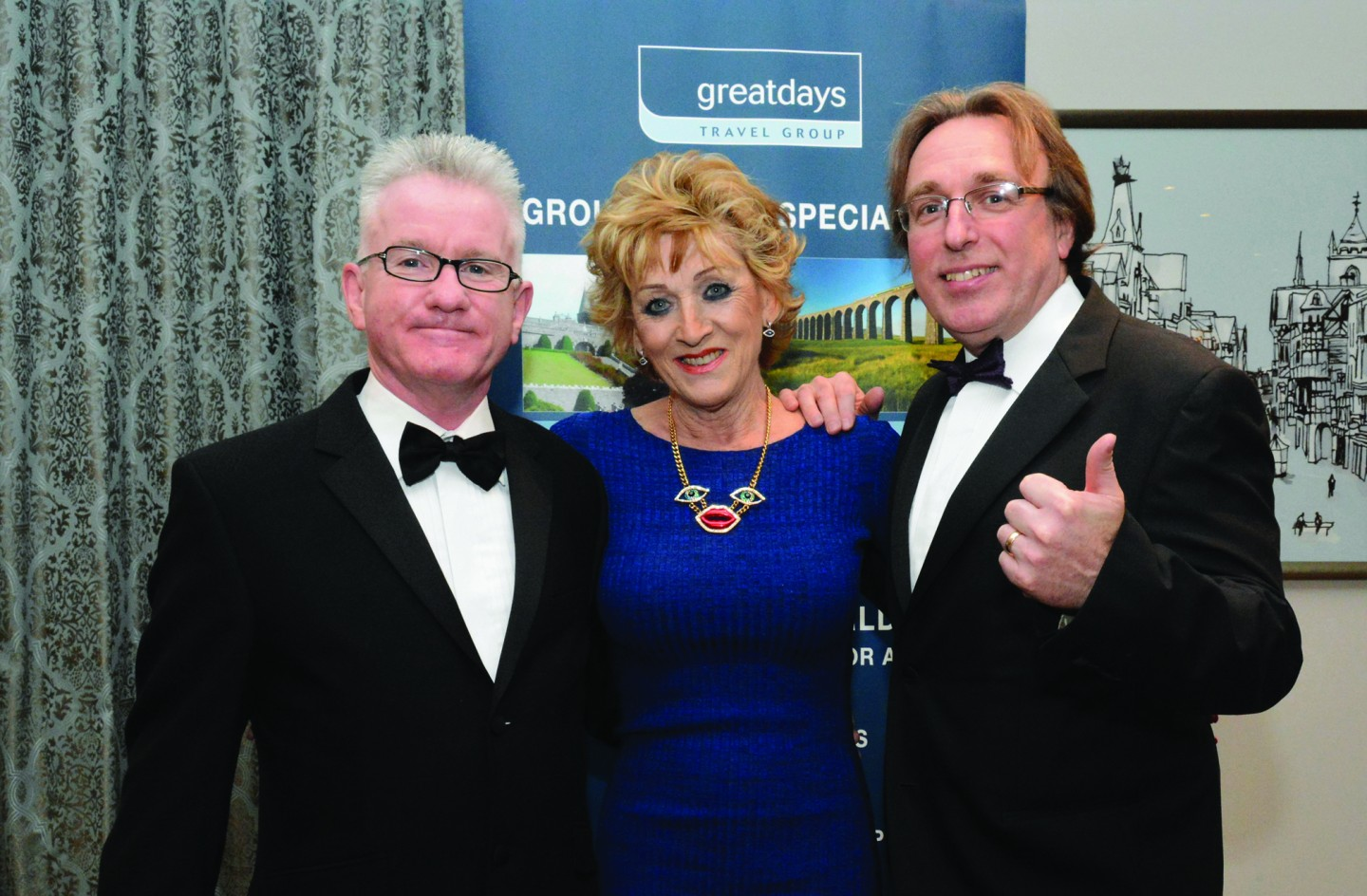 L-R Martin Slater, Jayne Kerr and Paul Beaumont