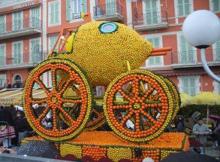 France, South of France, Cote d'Azur, Menton Lemon Festival, Float, (Nice Carnival) (NCN)