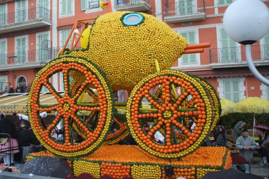 France, South of France, Cote d'Azur, Menton Lemon Festival, Float, (Nice Carnival) (NCN)