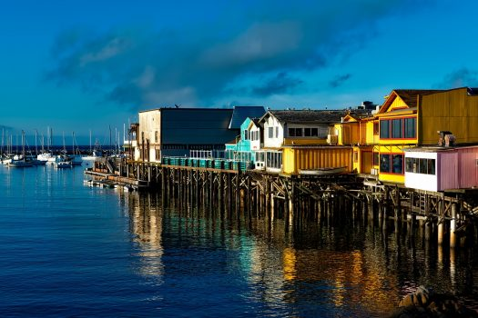 USA United States of America, California, Fishermans Wharf, Monterey, group tour, group travel, (NCN)