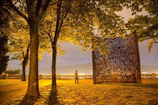 Monument to the Gudarirs, Mount Artxanda, Bilbao, Basque Country. Monumento a los Gudaris Aartxanda 1 (C) With the permission of Bilbao Turismo - Bilbao País Vasco Euskadi 17-09-2013 La escultura