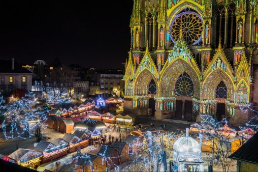 Christmas in Champagne France, Reims Christmas Markets, Champagne, group travel, group tour, holidays © Ville de Reims - Cyril Beudot