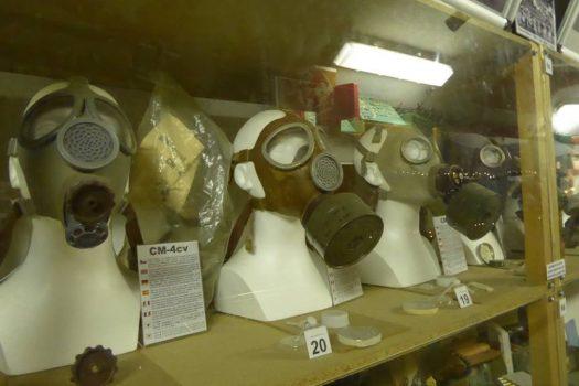 Gasmasks in nuclear bunker, Prague (NCN)