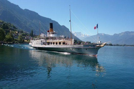 Paddle Steamer on Lake Geneva, Switzerland