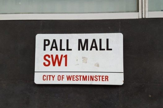 London - Pall Mall street sign