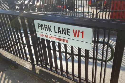 London Park Lane sign