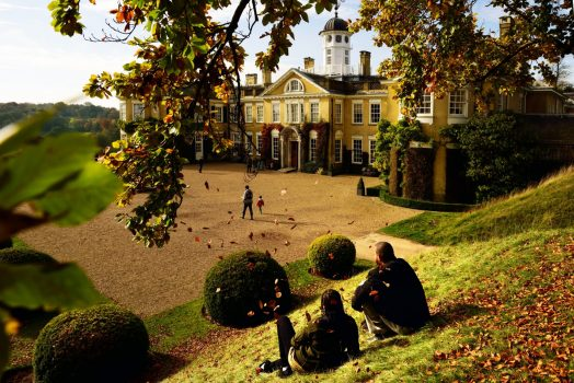 Polesden Lacey, Surrey - Visitors in the grounds In the autumn ©National Trust Images, John Millar - ONE USE ONLYPolesden Lacey, Surrey - Visitors in the grounds In the autumn ©National Trust Images, John Millar - ONE USE ONLY