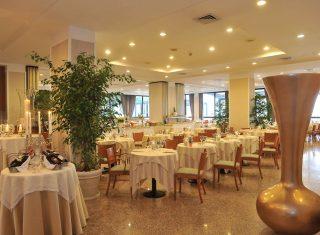 Restaurant at Grand Hotel Diana Majestic, Diano Marina, Italian Riviera, Italy,